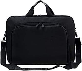 CamKpell Borsa Multifunzionale per Laptop da 15 Pollici per Laptop da Uomo Borsa da Donna Borsa in Nylon - Nero