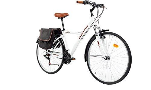 """Moma Bikes Bicicleta Trekking / Paseo  HYBRID 28"""", Alu, SHIMANO 18V, S"""