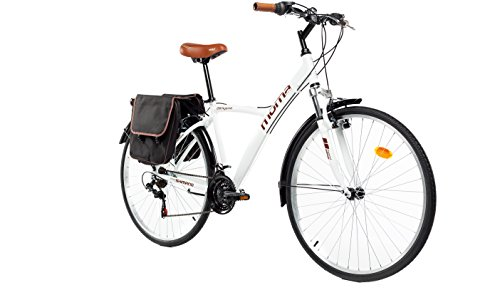 Moma Bikes Hybrid 28 BLN, Bicicletta Unisex – Adulto, Bianco, Unica