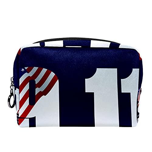 Kosmetiktasche Reise-Toilettenartikel täglich tragbare Make-up-Tasche mit Reißverschluss Zip,Nationalfeiertag im September