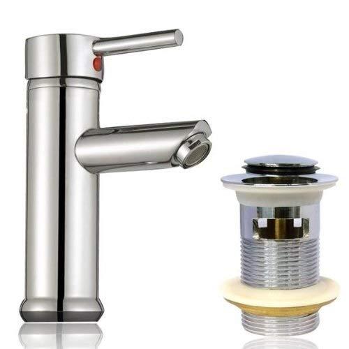 Co Ko Waschbecken Waschraum Becken Weiseeinhebelchrom-Messingmischer mit Pop-Up-Wast für Waschraum und Waschbecken