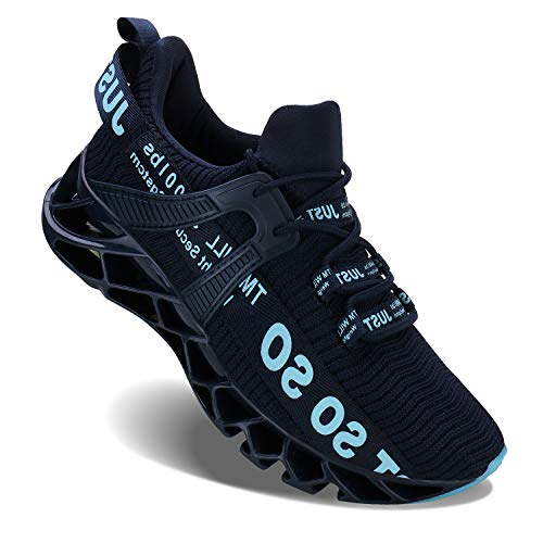 UMYOGO Mens Athletic Walking Shoes Casual Best Slip Running Sneakers Outdoor Sport Shoes Dark Blue