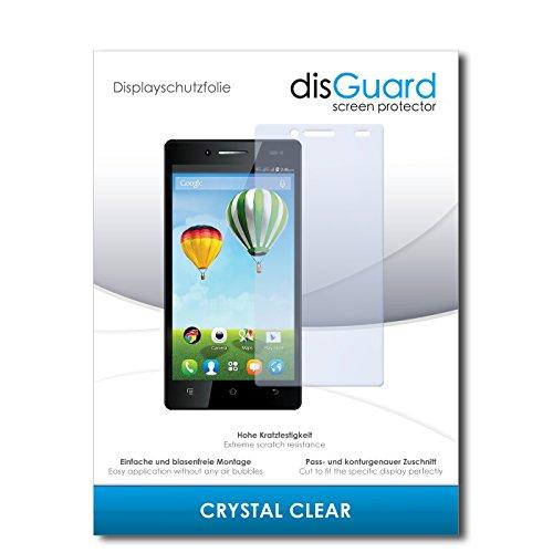 disGuard® Bildschirmschutzfolie [Crystal Clear] kompatibel mit Haier Phone L50 [4 Stück] Kristallklar, Transparent, Unsichtbar, Extrem Kratzfest, Anti-Fingerabdruck - Panzerglas Folie, Schutzfolie