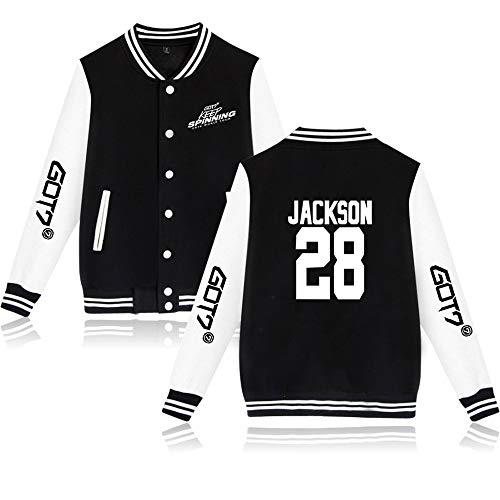GOT7 Keep Spinning Kpop Jacke Baseball Sweatshirt GOT7 Pullover Bambam Yugyeom JB JinYoung Mark Jackson Youngjae Freizeitmäntel Langarm Tops Mode Mäntel für Männer Frauen