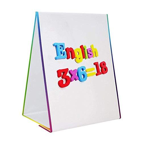 zZZ Zambista Pizarra de borrado en seco de Doble Cara, Pizarra de Escritorio Plegable, de pie, 35x32x18.5cm