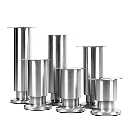 4 Pack Sofa Legs Metal,Adjustable Stainless Steel Replacement Furniture Legs,Kitchen Feet for Furniture,Chair,Desk,Cupboard,Sofa,Bed,12cm(5inch)