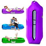 IceFox Inflatable Couch, Pool Floats, Inflatable Lounger& Anti-Air Leaking Design-Ideal Air Sofa, Cool Inflatable Beach Chair for Hiking Gear & Music Festivals…