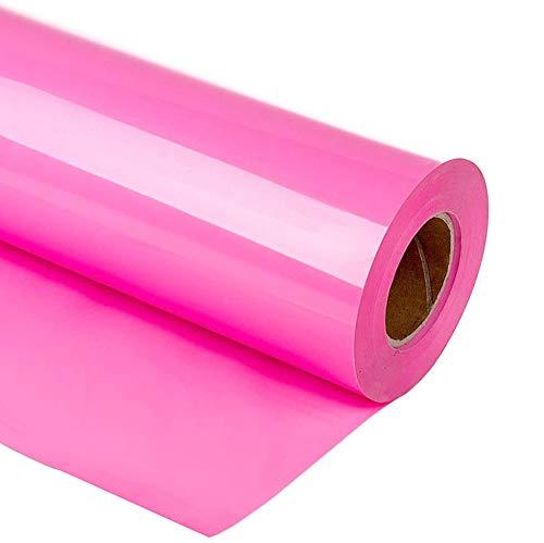 guangyintong HTV 12 x 10ft Roll - Iron On Heat Transfer Vinyl for T-Shirt Matte (Pink A13)