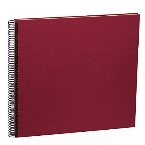 Semikolon (352931) Spiral Album Large burgundy (dunkel-rot) - Spiral-Fotoalbum mit 50 Seiten u. Efalin-Einband -Fotobuch mit cremeweißem Fotokarton