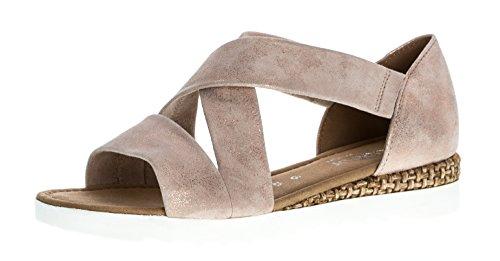 Gabor Gabor Damenschuhe 62.711.95 Damen Sandalen, Sandaletten, Mehrweite pink (rame (Grata/Weiss)), EU 5.5