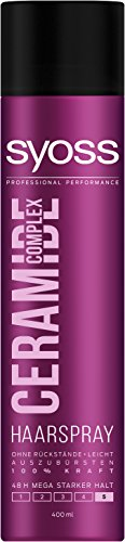 Syoss Haarspray Ceramide Complex Haarspary, Haltegrad 5, Mega stark, 6er Pack (6 x 400 ml)
