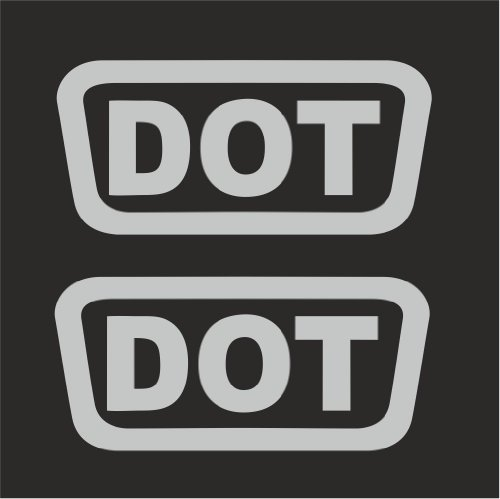 2 pcs DOT Replacement Logo Helmet Motorcycle Decal Sticker M1 1.5  Silver