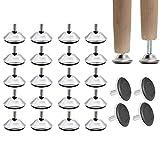 24 Piezas Patas Ajustables Regulables para Muebles,Muebles Pie Nivelador,Mueble Niveladores Ajustable Patas,para Mesa,Gabinete,Electrodomésticos,Sofá,Almohadillas,Muebles,M8x25mm
