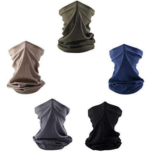 Geechen Neck Gaiters for Men - Non Slip Light Breathable for Sun Wind Dust Bandana Balaclava (Color Set 7)