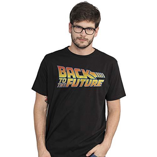 Camiseta De Volta Para o Futuro Logo Masculina (M)