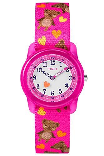 Timex TW7C16600 Mädchen-Armbanduhr mit Quarz-Uhrwerk, Analoganzeige und Textil-Uhrenband.