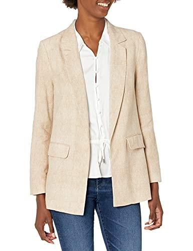 BCBGeneration Woven Linen Twill Jacket Chaqueta, Beige, XS para Mujer