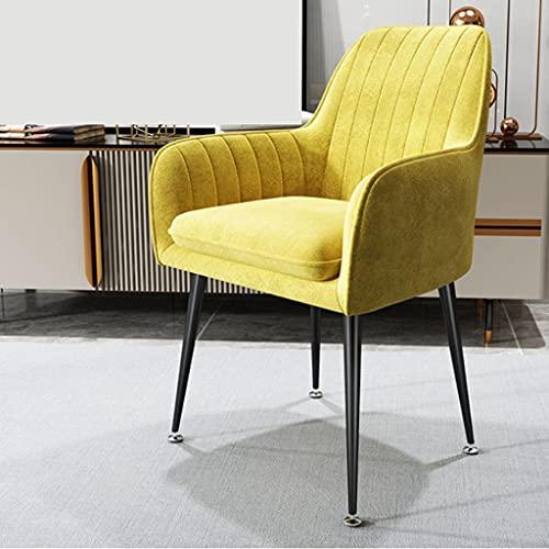 YKAMM Sillones, Muebles de Sala de Estar, sofá, Silla, nórdico, Moderno, Simplicidad, tocador, sillones Ligeros de Felpa para Dormitorio (Color : Yellow)