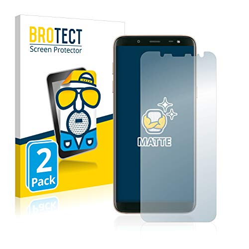 BROTECT 2X Entspiegelungs-Schutzfolie kompatibel mit Samsung Galaxy J6 2018 Bildschirmschutz-Folie Matt, Anti-Reflex, Anti-Fingerprint