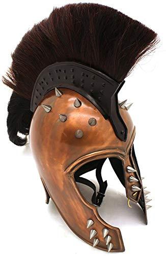 Vintage star_Brand 20G Steel Punk Trojan Helmet w/Ponytail & Leather Liner