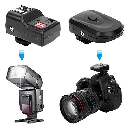 Wosune Drahtloser Blitzauslöser, 1 eingestellter Blitzauslöser, 16 unabhängige Kanäle für Nikon