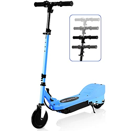 MAXTRA Upgraded E100 Electric Scooter for Kids Ages 6-12, Folding Scooters with Adjustable Handlebar - Up to 10MPH and 155LBS Max Load