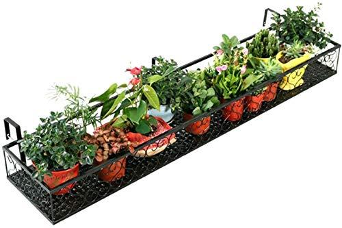 Fioriera da appendere per piante, per balcone, supporto per fiori, rinforzo, robusto e stabile, impermeabile e antiruggine, peso 130 kg, in ferro battuto, 2 colori, 9 specifiche