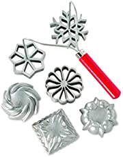 Nordic Ware Swedish Rosettes & Timbale Set, 6 Pieces, Silver