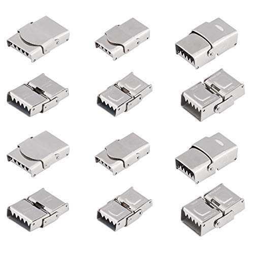 UNICRAFTALE About 15 Sets 3 Styles Watch Band Clasps Stainless Steel...