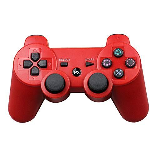 Zero starting point Juego Joysticks Inalambrico por Blueetooth, Mobile Gaming Mando Controlador Gamepad, Controlador Gamepad, PS3 Gamepad Bluetooth Controlador con Vibración,Rojo