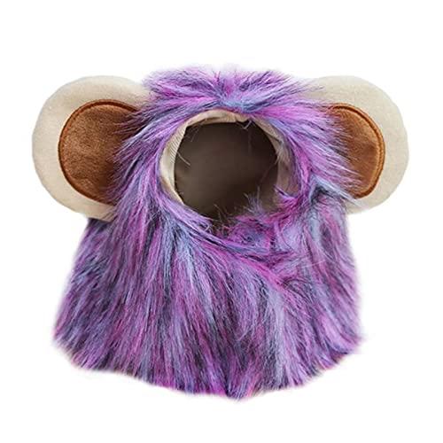 Peluca de pelo de melena de león para perro de mascota de Halloween, peluca de perro de Navidad, disfraz de pelo, vestido de fiesta elegante, gorro divertido para Cosplay, disfraz para mascotas