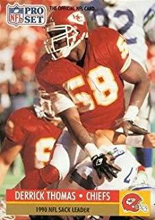 Derrick Thomas Football Card (Kansas City Chiefs) 1991 Pro Set #19