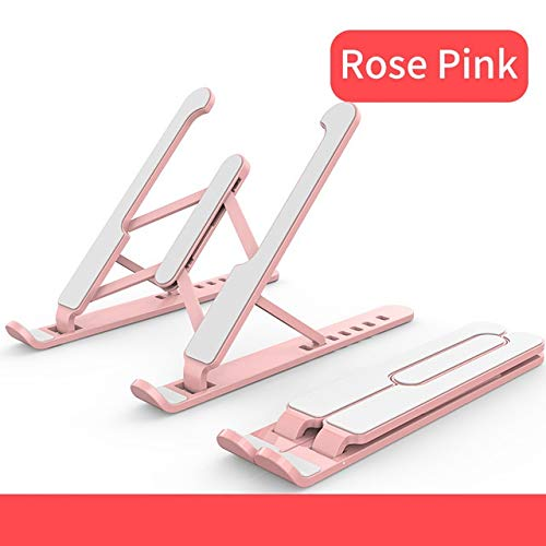 CHUNMA Adjustable Foldable Laptop Stand Non-slip Desktop Notebook Holder Laptop Stand For Macbook Pro Air iPad Pro DELL HP (Color : Pink)