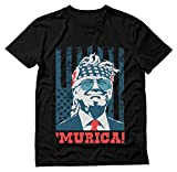 Donald Trump 2020 Shirt Murica 4th of July Patriotic American Party USA T-Shirt X-Large Black