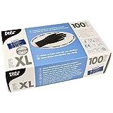 PAPSTAR Handschuh, unsteril, Naturlatex, puderfrei, Größe: XL, schwarz (100 Stück), Sie erhalten 1 Packung á 100 Stück