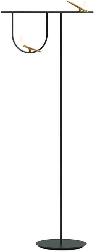 Artemide yanzi ,lampada da terra,in ottone/vetro soffiato/acciaio 1102010A