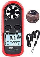 Anemometer Handheld Wind Speed Meter Gauge, Digital Air Temperature Anemometer HVAC Velometer Wind Velocity Meter...
