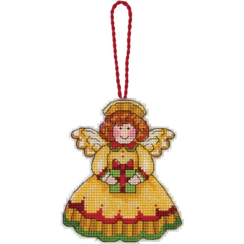 Dimensions Susan Winget Angel Ornament Counted Cross Stitch Kit-3-1/4 X3-3/4 14 Count Plastic Canvas