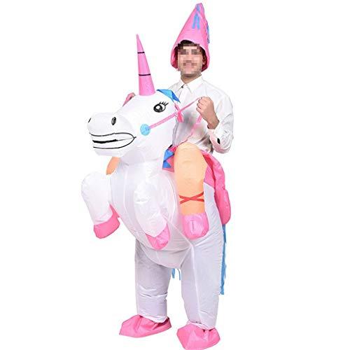 KODH Inflable Adulto de Halloween Creativo Dinosaurio de Víspera de Unicornio muñeca Styling Prop Bar Festival Mall Mostrar la Mascarada de Cosplay Mascarada (Color : Rosado, Size : 150-190cm)