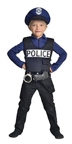 Cesar F586 Costume da Poliziotto Francese, 5 7 Anni