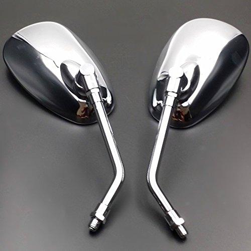 Anzene Grim Reaper Universal Custom Motorcycle Cruiser Mirrors Negro Chrome Free Adapters Custom Rear View Mirrors