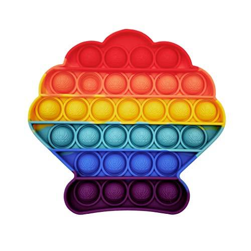 GreenBee Pop it Fidget Toy - Push Pop it Antiestres Niños - Push Pop Bubble Fidget Juguetes Antiestres - Sensorial Herramientas para Aliviar el Estrés y la Ansiedad para Niños y Adultos I Almeja