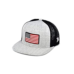 Branded Bills 'Old Glory Rogue' PVC Patch Hat Flat Trucker – One Size Fits All