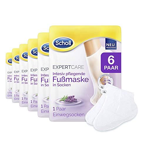 Scholl ExpertCare Intensiv pflegende Fußmaske mit Lavendelöl - 6 Paar Einwegsocken