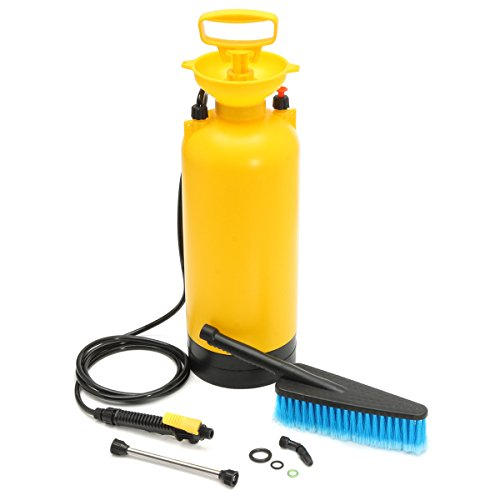 MJJEsports 8L draagbare drukreiniger Power Pomp Spray auto wassen borstel slang Lance Cleaner