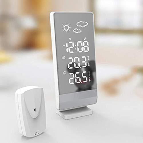 QAZW Reloj Regulable Pronóstico del Tiempo Relojes De Monitoreo del Tiempo Termómetro E Higrómetro Estación Meteorológica Digital