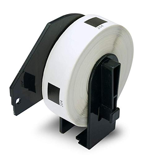 "BETCKEY - 1 Rolls Compatible Brother DK-1204 17mm x 54mm(2/3"" x 2-1/8"") 400 Labels per Roll with Refillable Cartridge"