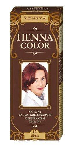Henna Color 12 Kirsche Cherry Haarbalsam Haarfarbe Farbeffekt Naturhaarfärbemittel Henne Öko