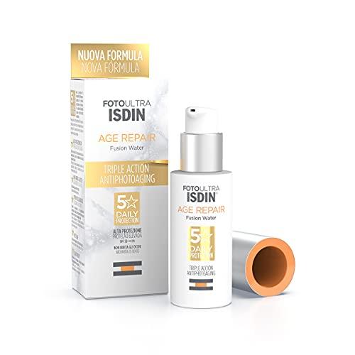 crema viso 50 spf antimacchie ISDIN FotoUltra Age repair FW SPF50 50ml | Fotoprotettore viso per uso quotiridano | Tripla azione antiphotoaging