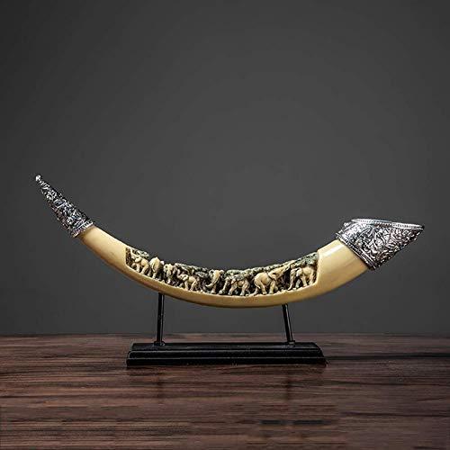 JJDSN Adornos de Resina False Tusk Desktop Decoracin del hogar, Regalos de felicitacin de inauguracin de la casa para la Apertura del xito de la Riqueza, Estatuas de Elefante Feng Shui B